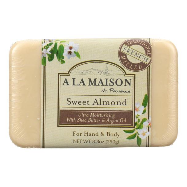 A La Maison - Bar Soap - Sweet Almond - 8.8 Oz