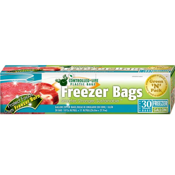 Green-n-pack Zipper Freezer Bags - Gallon - 30 Pack