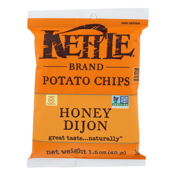 Kettle Brand Potato Chips - Honey Dijon - Case Of 24 - 1.5 Oz.