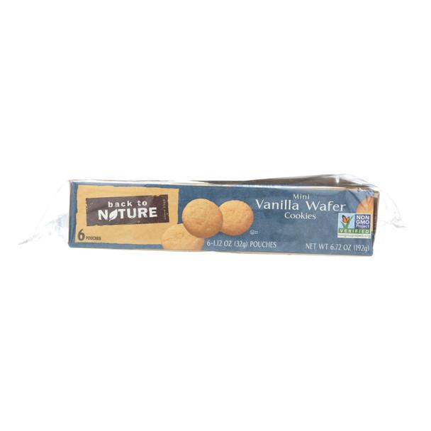 Back To Nature Madagascar Vanilla Wafers - Whole Grain Wheat Flour And Vanilla - Case Of 4 - 1.12 Oz.