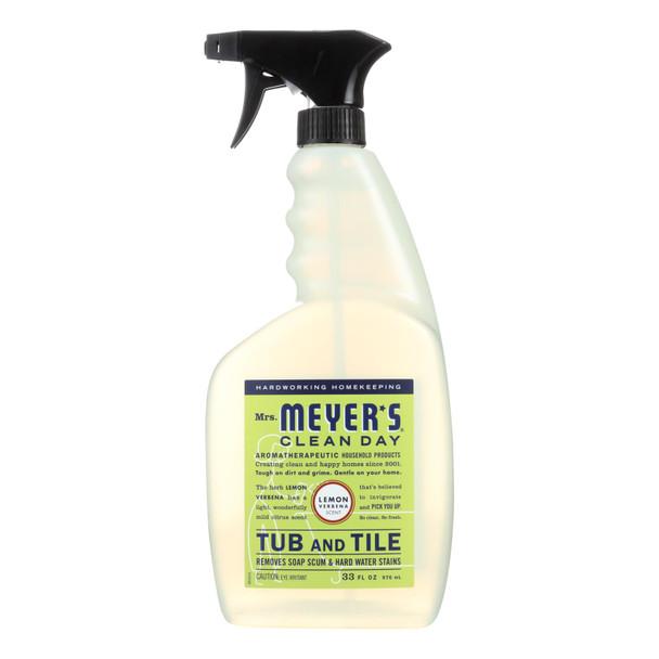 Mrs. Meyer's Clean Day - Tub And Tile Cleaner - Lemon Verbena - 33 Fl Oz - Case Of 6