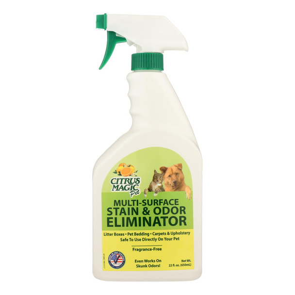 Citrus Magic Pet Odor Eliminator - Trigger Spray - 22 Fl Oz