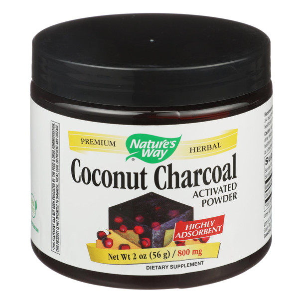 Nature's Way - Activated Coconut Charcoal - 2 Oz.