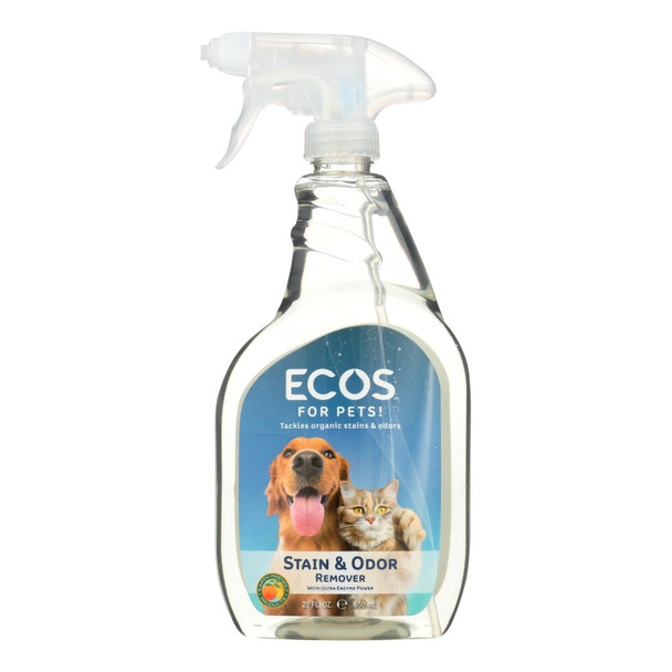 Ecos For Pets Stain And Odor Remover  - Case Of 6 - 22 Oz