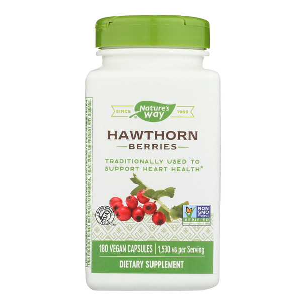 Nature's Way - Hawthorn - 1 Each - 180 Vcap
