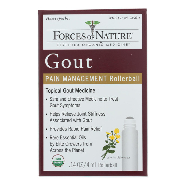 Forces Of Nature - Gout Pain Management - 1 Each - 4 Ml