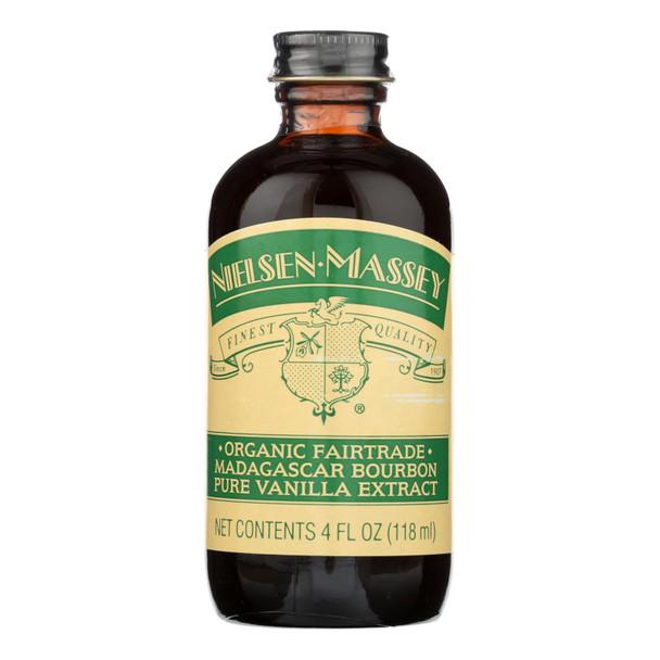 Nielsen Massey Organic Fairtrade Madagascar Bourbon Pure Vanilla Extract - Case Of 8 - 4 Fz