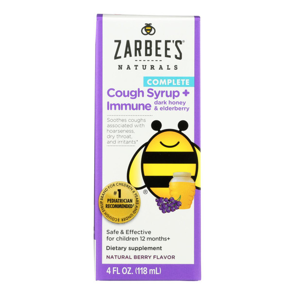 Zarbee's - Cough Syrup Day Immu Eldr - 1 Each - 4 Fz
