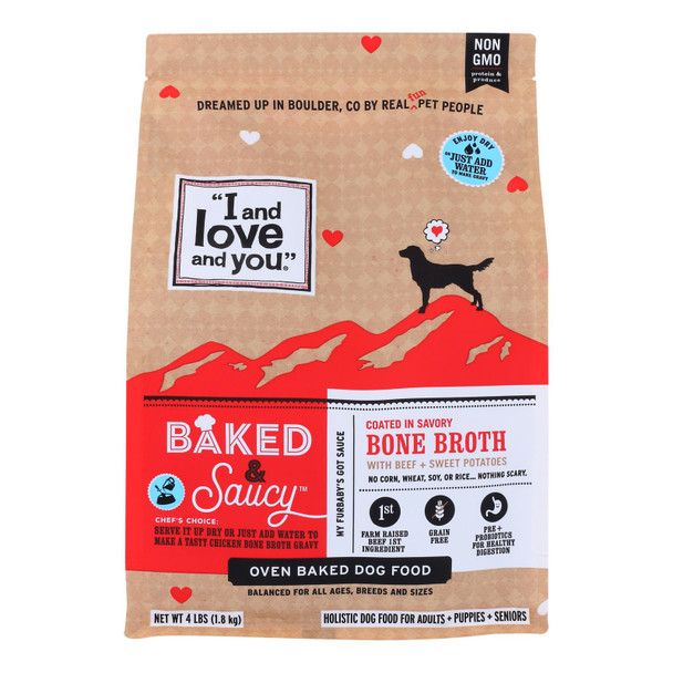 I And Love And You - Dog Food Baked Saucy Beef - Case Of 6 - 4 Lb