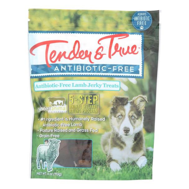 Tender & True - Dog Treats Lamb Jerky - Case Of 10 - 4.00 Oz