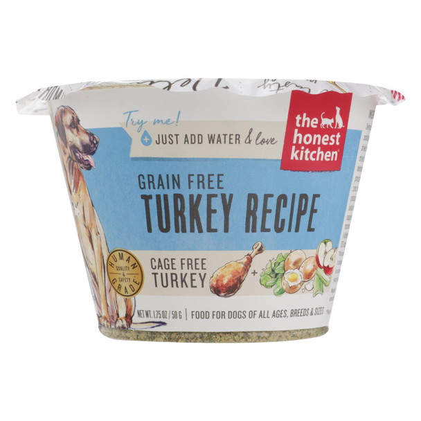 The Honest Kitchen - Dog Fd Green Free Turkey Ss - Case Of 12 - 1.75 Oz
