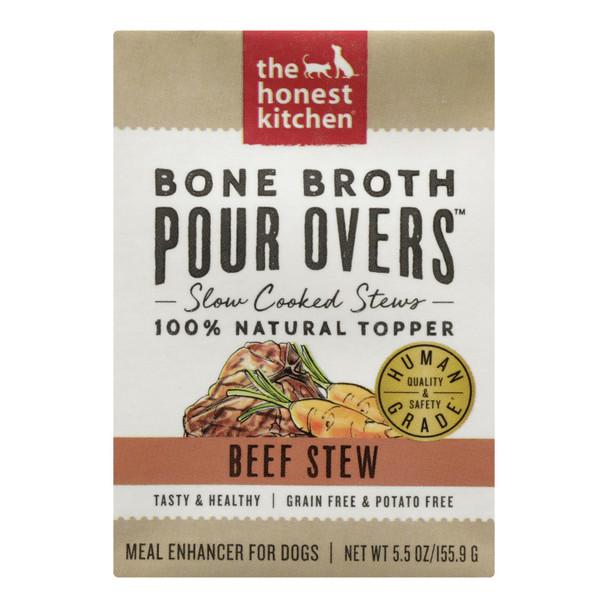 The Honest Kitchen - Dog Fd Por Ovr Bf Stew - Case Of 12 - 5.5 Oz