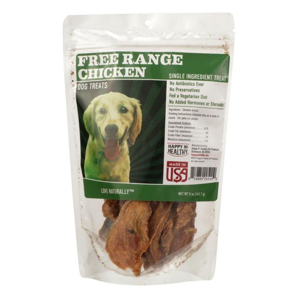 Happy N Healthy Pet - Dog Treat Chicken Abf - Case Of 8 - 5 Oz