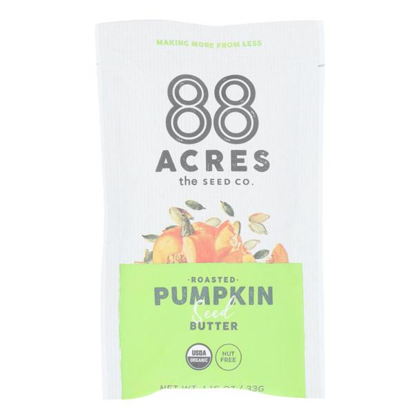 88 Acres - Seed Butter - Organic Pumpkin - Case Of 10 - 1.16 Oz.