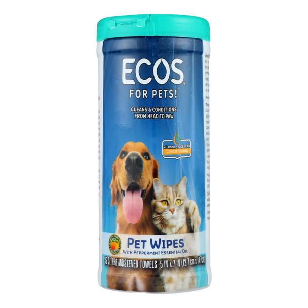 Ecos - Pet Wipes Pre-moist Towel - Case Of 6 - 35 Ct