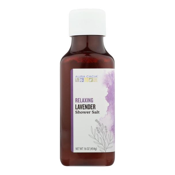 Aura Cacia - Shower Salt Relax Lavender - 1 Each - 16 Oz