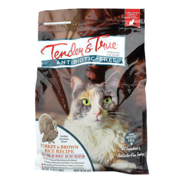 Tender & True Cat Food, Turkey And Brown Rice - Case Of 6 - 3 Lb