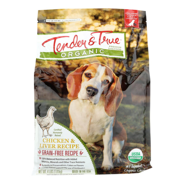 Tender & True Dog Food, Chicken And Liver - Case Of 6 - 4 Lb