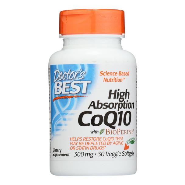 Doctor's Best - Coq10 300mg - 1 Each-30 Sgel