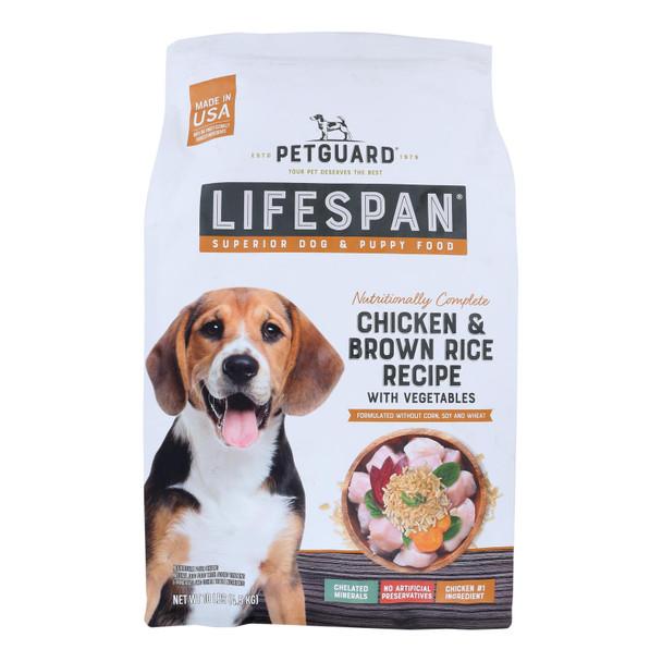 Petguard - Dog Fd Dry Lifespan Chicken - Case Of 1 - 10 Lb