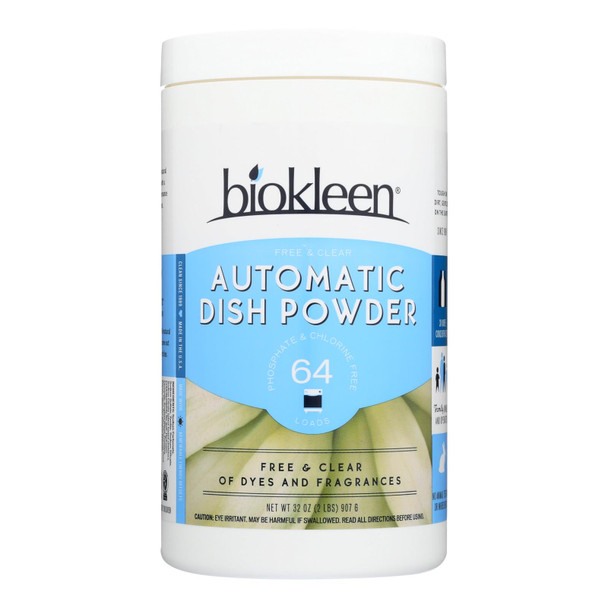 Biokleen - Dish Sp Pwdr Auto Fr/clr - Case Of 6-2 Lb