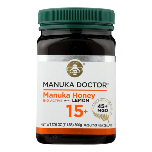 Manuka Doctor 15+bio Active Manuka Honey With Lemon  - Case Of 6 - 1.1 Lb