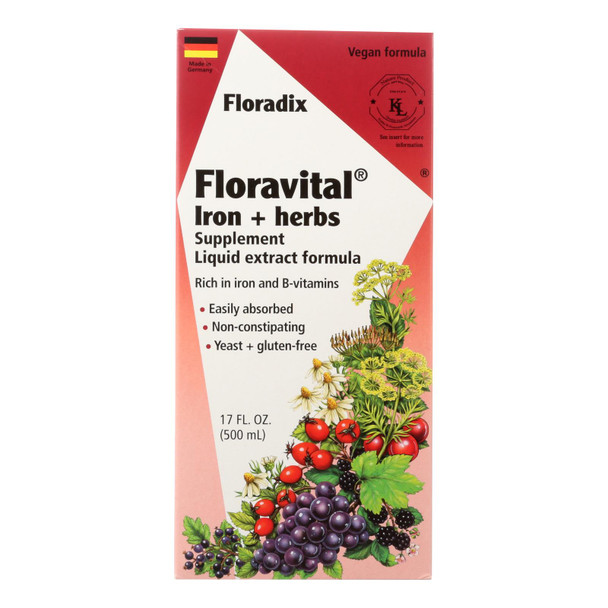 Flora Inc - Floravital Iron Plus Herb - Ea Of 1-17 Fz