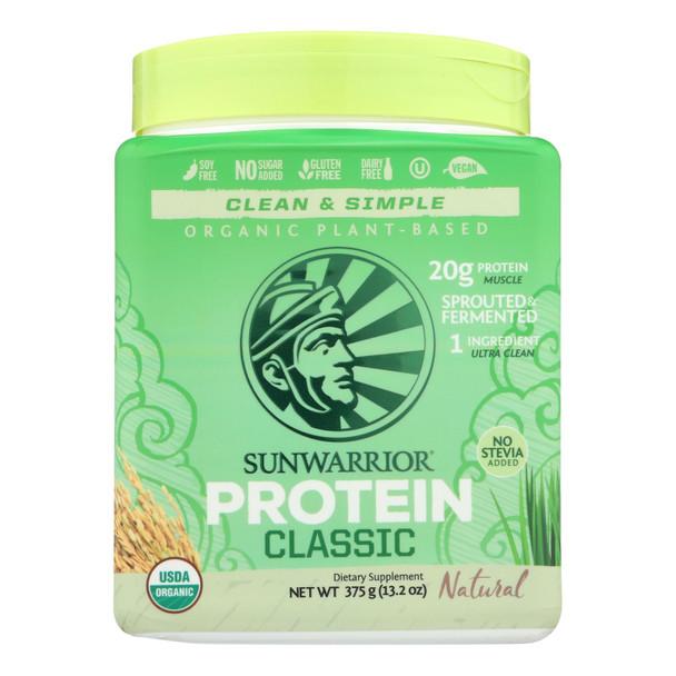 Sunwarrior - Protein Organic Classic Natural - 375 Grm