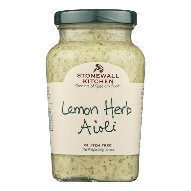 Stonewall Kitchen Lemon Herb Aioli - Case Of 12 - 10 Oz