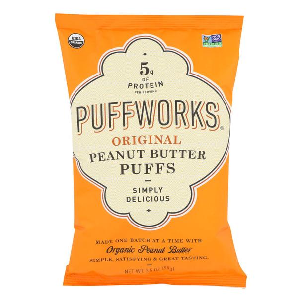 Puffworks - Puffs Original Peanut Butter Gluten Free - Case Of 8-3.5 Oz