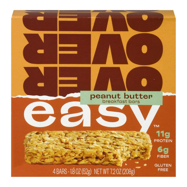 Over Easy - Breakfast Bar Peanut Butter - Case Of 6-4/1.8 Oz