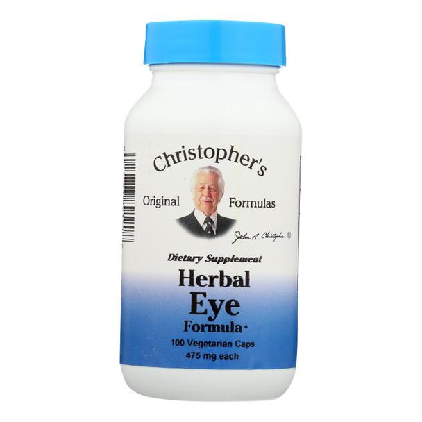 Dr. Christopher's Herbal Eyebright - 450 Mg - 100 Vegetarian Capsules