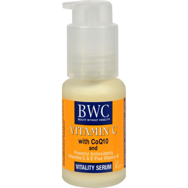 Beauty Without Cruelty Vitality Serum Vitamin C With Coq10 - 1 Fl Oz