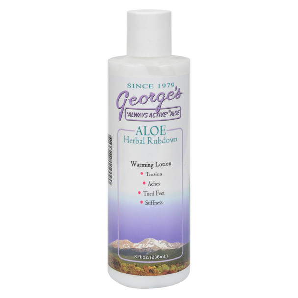 George's Aloe Vera Herbal Rubdown - 8 Fl Oz