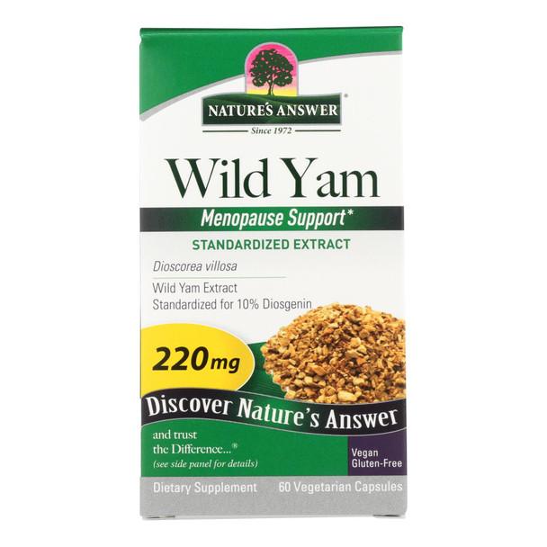 Nature's Answer - Wild Yam Root Extract - 60 Vegetarian Capsules