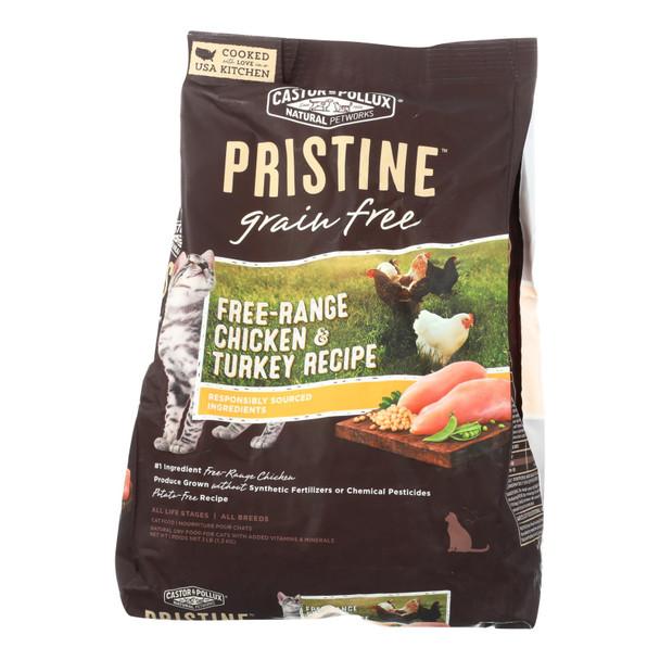 Castor And Pollux Pristine Grain Free Dry Cat Food - Chicken & Turkey - Case Of 5 - 3 Lb.