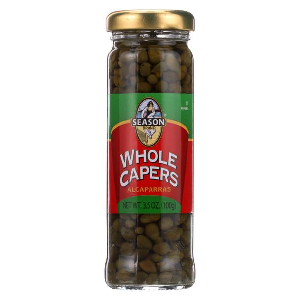 Season Brand Capers - Whole - Non Pariels - 3.5 Oz - Case Of 6