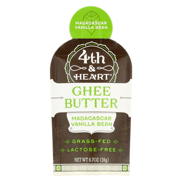 4th And Heart Ghee Madagascar Vanilla Single - Case Of 5 - .7 Oz