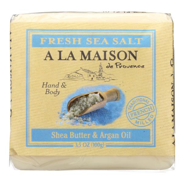 A La Maison Bar Soap - Fresh Sea Salt  - Case Of 6 - 3.5 Oz