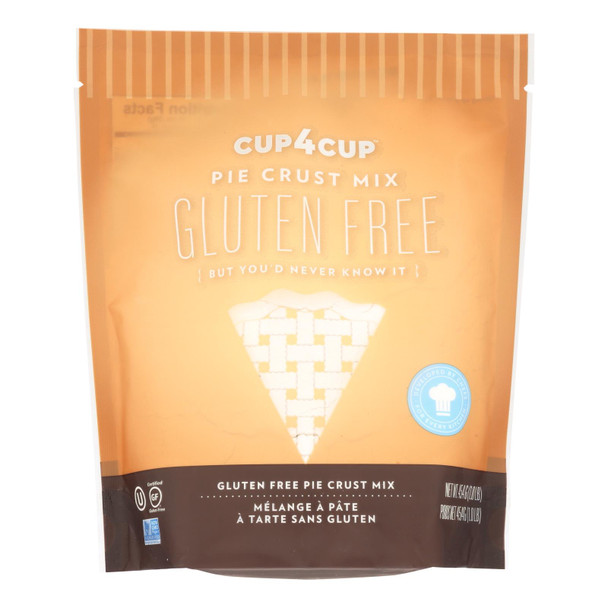 Cup 4 Cup Pie Crust Mix - Gluten-free - Case Of 6 - 1 Lb