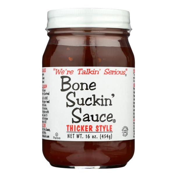 Bone Suckin - Barbecue Sauce - Thicker Style - Case Of 12 - 16 Oz.