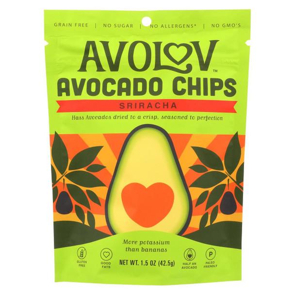 Avolov - Avocado Chips - Sriracha - Case Of 12 - 1.5 Oz.