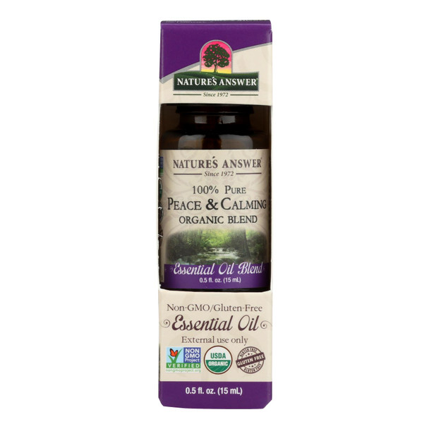 Nature's Answer - Organic Essential Oil Blend - Peace And Calming - 0.5 Oz.