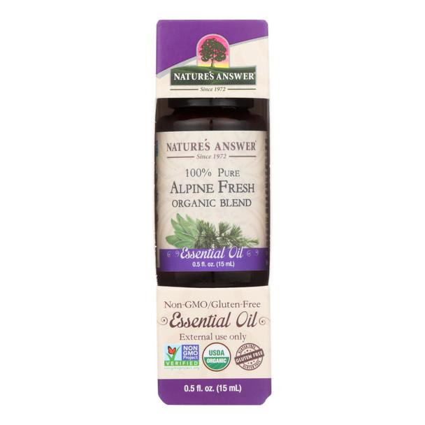 Nature's Answer - Organic Essential Oil Blend - Alpine Fresh - 0.5 Oz.