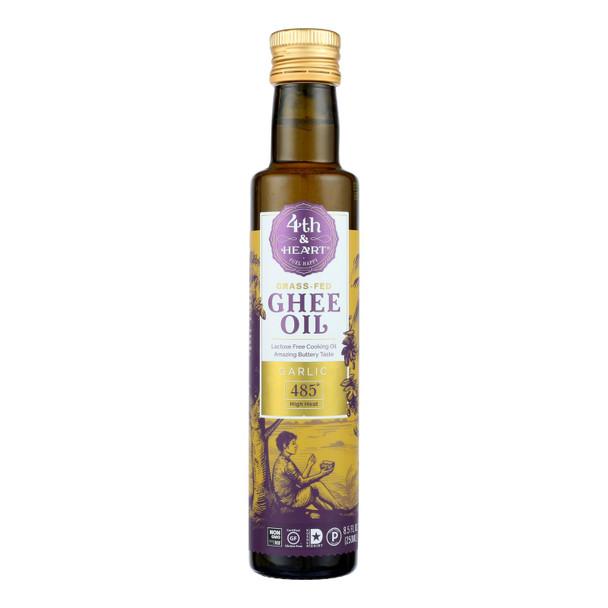 4th & Heart - Ghee Oil - Garlic Pourable - Case Of 6 - 8.5 Oz.