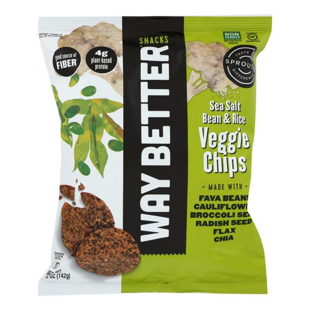 Way Better Snacks - Veg Chips Sea Salt - Case Of 12 - 5 Oz