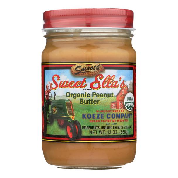 Sweet Ella's - Peanut Butter Og1 Smooth - Cs Of 6-13 Oz