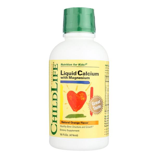 Childlife Liquid Calcium With Magnesium Natural Orange - 16 Fl Oz