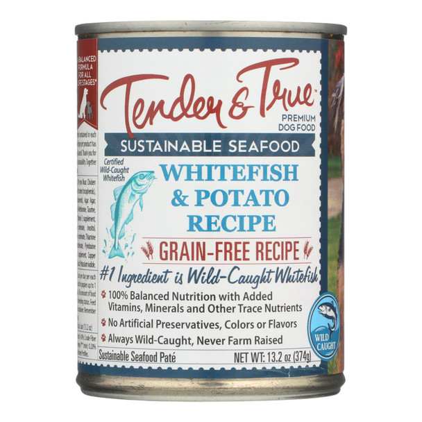 Tender & True Dog Food, Ocean Whitefish And Potato - Case Of 12 - 13.2 Oz