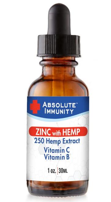 Absolute Immunity - Zinc Concntrt Hemp Oil - Ea Of 1-1 Oz